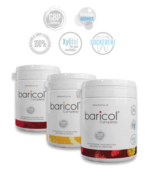 Baricol complete burkar med tuggtabletter för överviktsopererade
