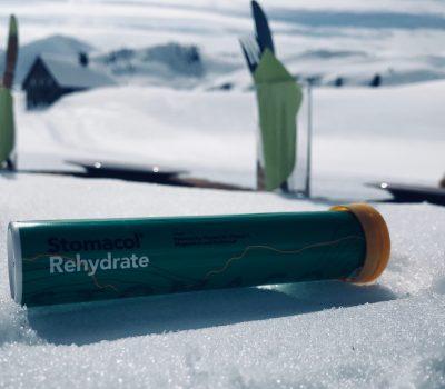 Stomacol rehydrate rör med vätskeersättning i fjällmiljö