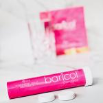 Baricol Complete brustablett hallon & persika på ett bord