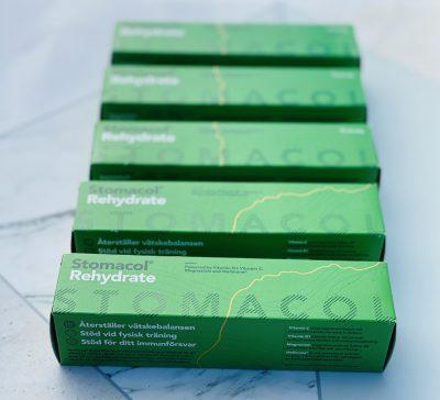 STomacol rehydrate 5 gröna förpackningar