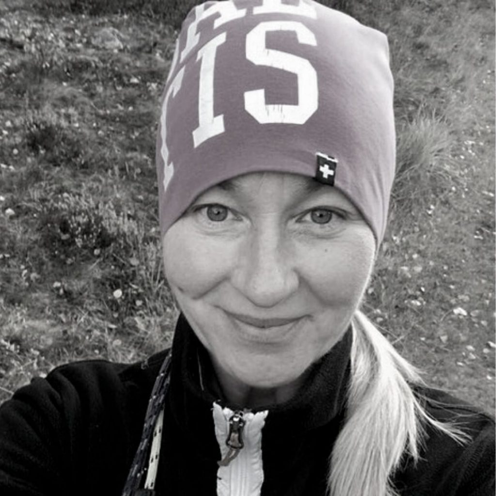 Profilbild i svartvitt Jaana